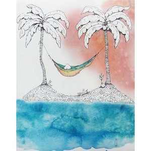 Island Hammock- 8 x 10 Giclee