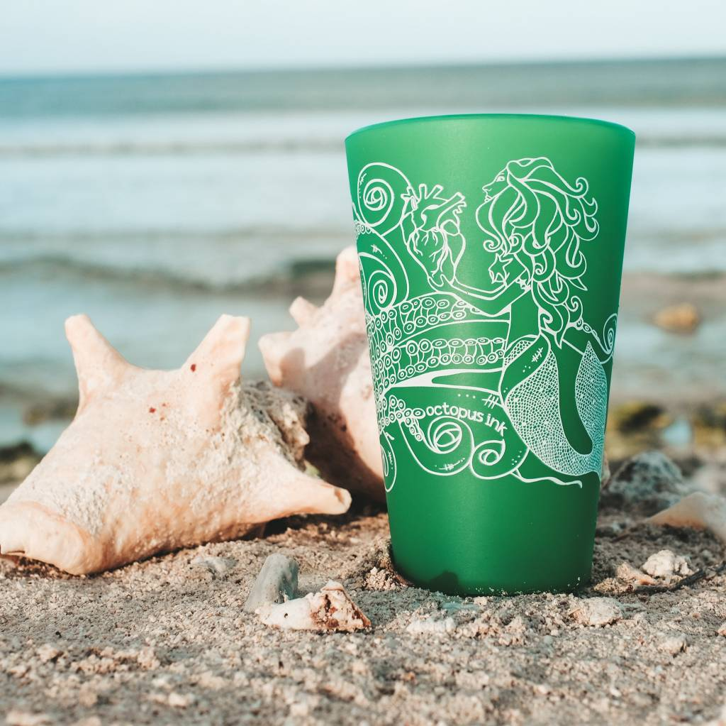 Mermaid & Octopus (Emerald)- Pint