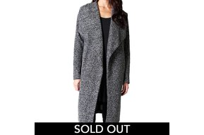 MARLED KNIT DUSTER COAT