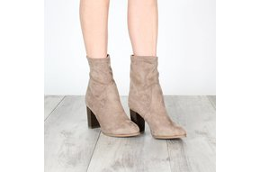 OLIVIA STRETCH SUEDE MIDI BOOTS