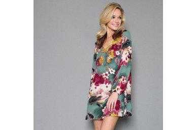 FLOWER POWER FLORAL DRESS