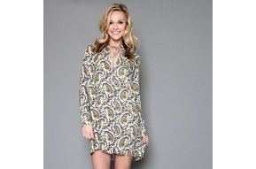 PALM SPRINGS PAISLEY DRESS