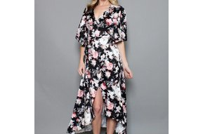 ESSIE FLORAL WRAP DRESS
