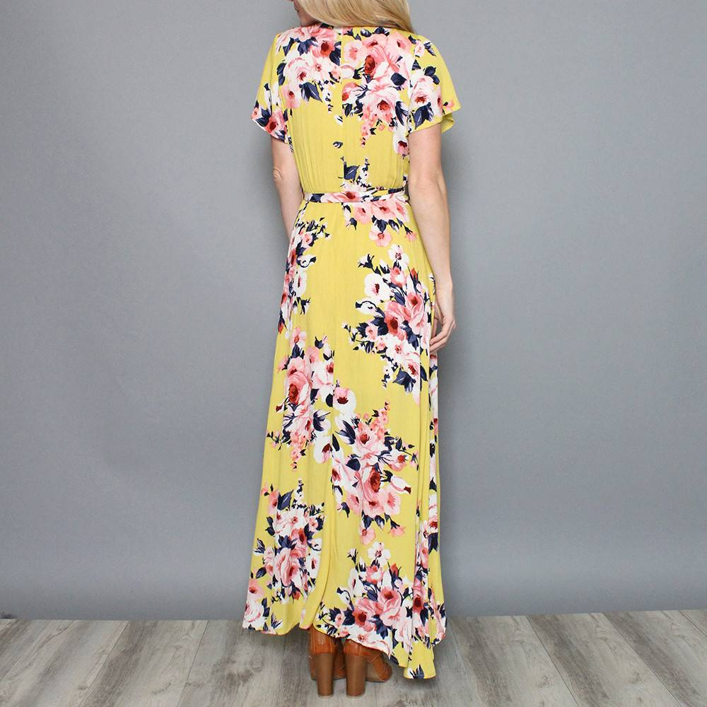 HAVANA FLORAL HIGH-LOW DRESS