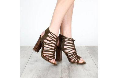 BROOKE STRAPPY HEELED SANDAL