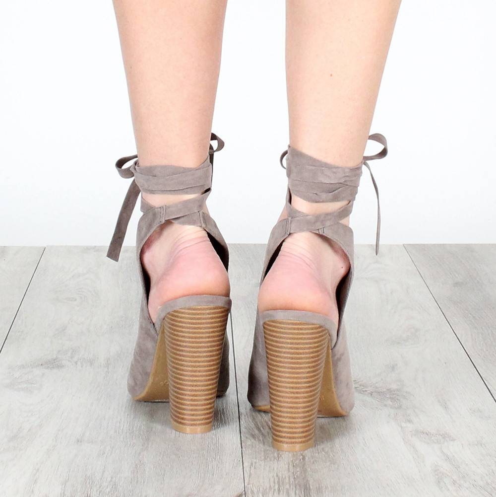 ASHLEY ANKLE TIE BOOTIES