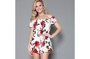CARMEN OFF THE SHOULDER ROMPER