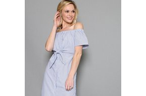 JENNY OFF THE SHOULDER SHIRT DRESS