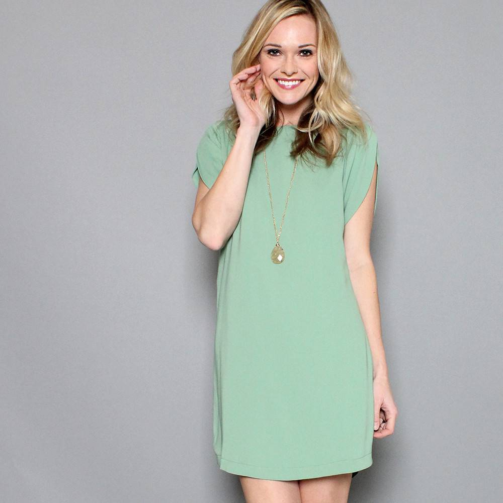 PETAL PUSHER SHIFT DRESS