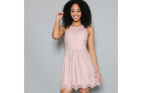ROSÉ ALL DAY LACE DRESS