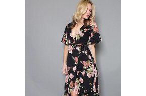 DARIA FLORAL WRAP DRESS