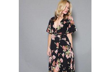 DARIA FLORAL WRAP DRESS
