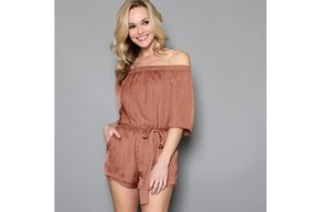 COOPER OFF THE SHOULDER ROMPER