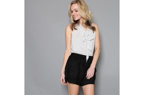 SWIFT FAUX SUEDE SHORTS