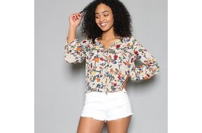 JORIE FLORAL SURPLICE TOP