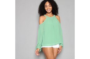 ANNETTE COLD SHOULDER TOP