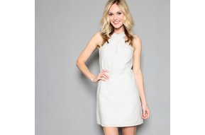 LIV CROSS NECK SHEATH DRESS