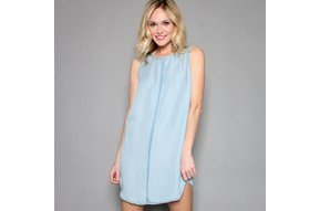 ELSIE CHAMBRAY SHIFT DRESS