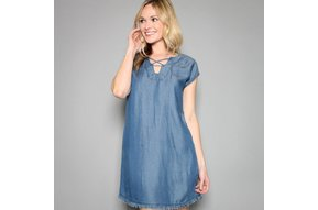 THERESA CHAMBRAY SHIFT DRESS