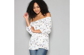 KIMMIE FLORAL OFF THE SHOULDER TOP