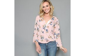 KATIE FLORAL SURPLICE TOP