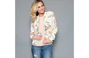 TULUM FLORAL BOMBER JACKET