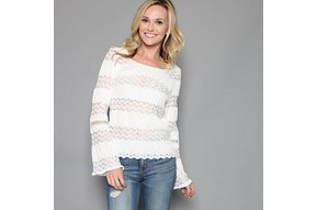 NORA LACE BELL SLEEVE TOP
