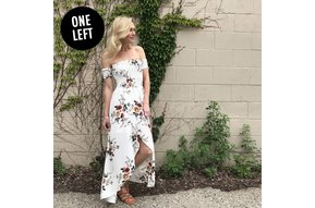 LEA OFF THE SHOULDER MAXI DRESS