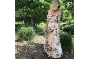 CALI OFF THE SHOULDER MAXI DRESS