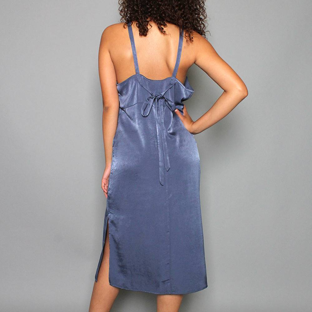MIDNIGHT MIDI SLIP DRESS