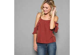 HERMOSA COLD SHOULDER TOP