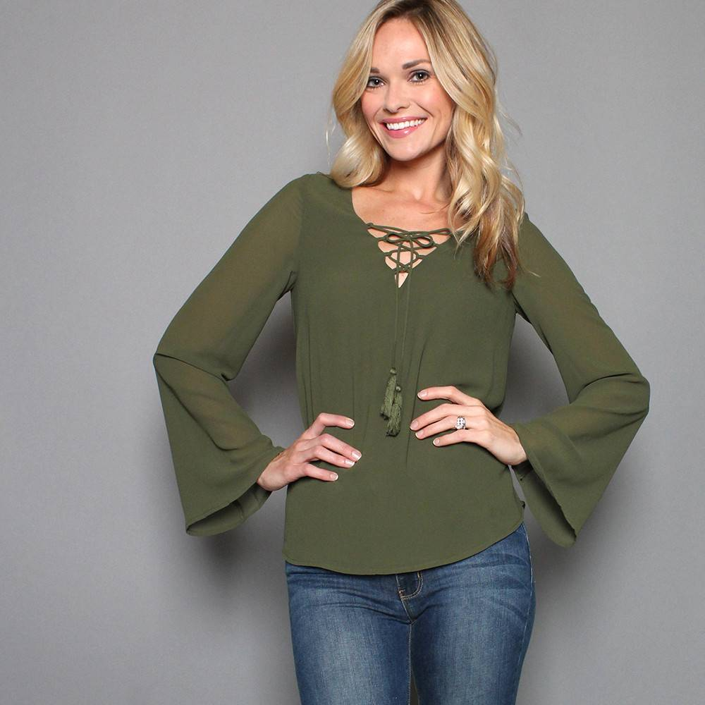 CYPRESS LACE UP TOP