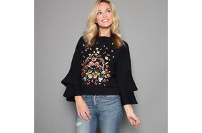 RACHEL EMBROIDERED SWEATER
