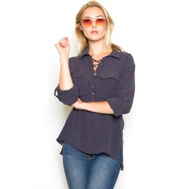 SELBY LACE UP TOP