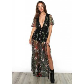 INDIO SHEER FLORAL DRESS