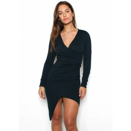 DIANNA FAUX WRAP DRESS
