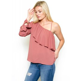 ROSE ONE SHOULDER TOP