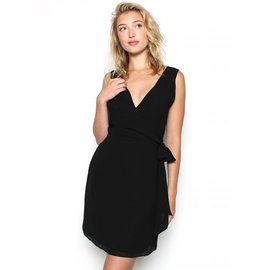 AUDREY SLEEVELESS WRAP DRESS