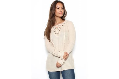 CARTER LACE UP SWEATER