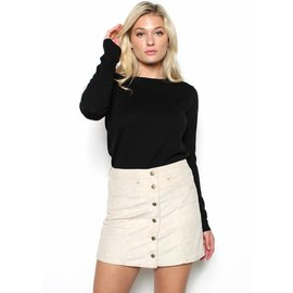 OPAL SUEDE MINI SKIRT
