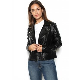 CARLY FAUX LEATHER JACKET