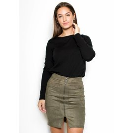 ISABEL SUEDE PENCIL SKIRT
