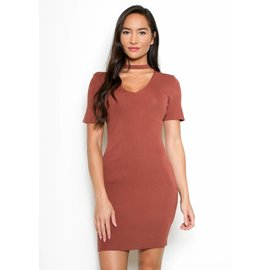 BELLA CHOKER NECK DRESS