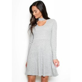 SKY CHOKER NECK DRESS