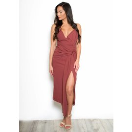 KIARA FAUX WRAP DRESS