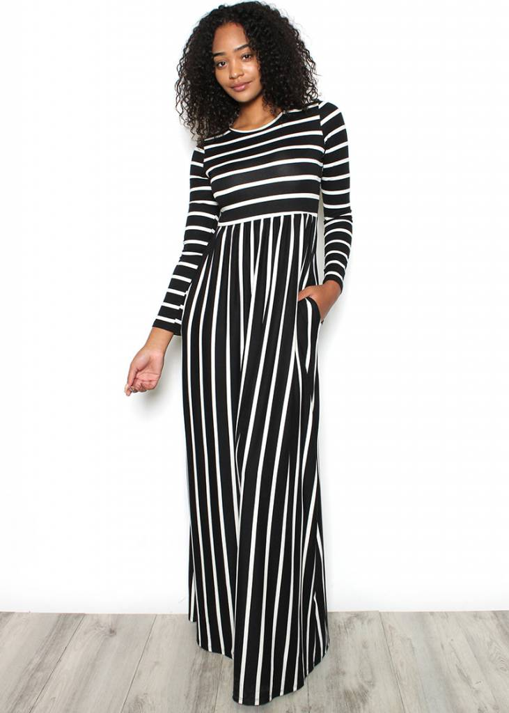 MALLORY STRIPED MAXI DRESS