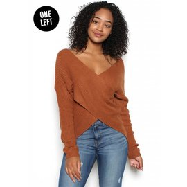 HANNAH FAUX WRAP SWEATER