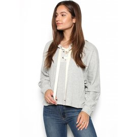 LIZ LACE UP SWEATSHIRT