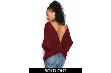 ANA TWISTED BACK SWEATER
