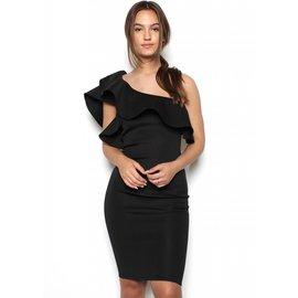 CELENE ONE SHOULDER DRESS